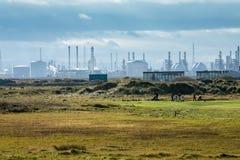 Teesside Przemysłowy kompleks zdjęcia stock