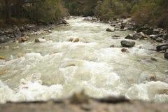 Teesta flod eller Tista, norr Sikkim, Indien Royaltyfria Foton