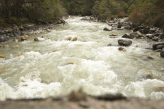Teesta Fluss oder Tista, Nordsikkim, Indien Lizenzfreie Stockfotos