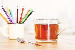 Teetasse- und Eisenbecher Lizenzfreies Stockbild