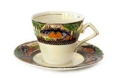 Teetasse und Untertasse Lizenzfreies Stockbild
