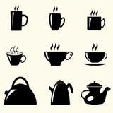 Teetassen und Teekannen Lizenzfreies Stockfoto