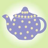 Teeteekannengetränk-Topfkessel lokalisierte heiße Karte des weißen antiken Cafés des Porzellanschalenporzellanfrühstücks Getränke Lizenzfreies Stockbild
