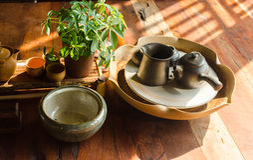 Teeteesatz stockbilder