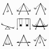 Teeter vector illustration collection of symbols Stock Photo