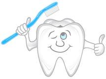 Teeth. Illustration of teeth hoking a tooth brush Royalty Free Stock Photo