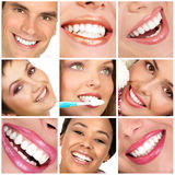 Teeth. Smiling  young people with healthy white teeth Stock Images