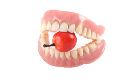 Teeth and apple. Royalty Free Stock Images