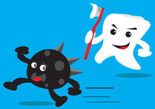 Teeth and Bactery Stock Photos