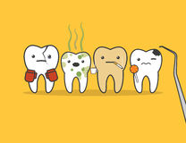 Teeth bad company. Royalty Free Stock Photo