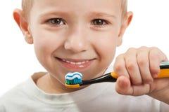 Teeth brushing royalty free stock photos