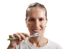 Teeth brushing Stock Photo