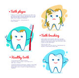 Teeth brushing concept. Royalty Free Stock Photos