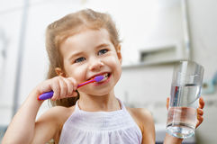 Teeth brushing Royalty Free Stock Image