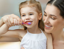 Teeth brushing Royalty Free Stock Images