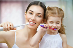 Teeth brushing Royalty Free Stock Photo