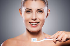Teeth care. Royalty Free Stock Image