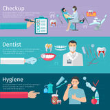 Teeth Care Horizontal Banners Royalty Free Stock Image