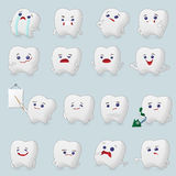 Teeth cartoons set Royalty Free Stock Photography