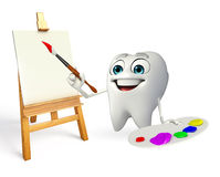 Teeth character with Color plate Royalty Free Stock Image