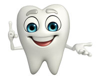 Teeth character is pointing Royalty Free Stock Photo