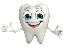 Teeth character with Shake hand Royalty Free Stock Photography