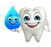 Teeth character with water drope Stock Photo