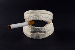 Teeth and cigarettes Stock Image
