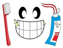 Teeth cleaned. Smile with your teeth cleaned Royalty Free Stock Image