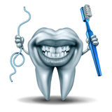 Teeth Cleaning Character Stock Photography