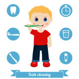 Teeth cleaning Royalty Free Stock Photos