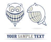 Teeth crazy smile. In cartoon style Royalty Free Stock Photos