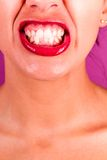 Teeth cringe Royalty Free Stock Photography