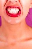 Teeth cringe Royalty Free Stock Photography