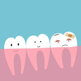 Teeth. Cute cartoon concept vector Stock Images