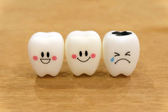Teeth cute toys Royalty Free Stock Image