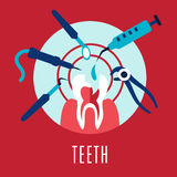 Teeth and dentistry concept Stock Image