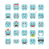 Teeth with different emotions Stock Image