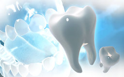 Teeth. Digital illustration of teeth in colour  background Stock Images