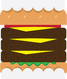 Hamburger Teeth Stock Image
