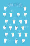Teeth emotions vector set Stock Photography