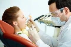 Teeth examination Royalty Free Stock Image