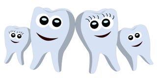 Teeth family Royalty Free Stock Photography