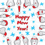 Teeth. Happy New Year greeting card Royalty Free Stock Photography