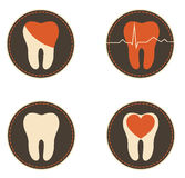 Teeth health care icons Stock Images