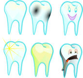 Teeth. Healthy tooth, tooth skariesom tooth plaque Royalty Free Stock Photography