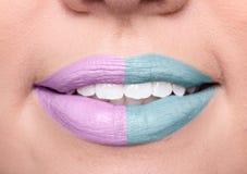 Teeth healty beautyful woman skin closeup lips, unrecognizable p Royalty Free Stock Image