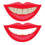 Teeth daily hygiene routine, oral care, dental cleaning Stock Image