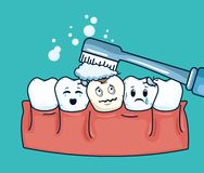 Teeth hygiene treatment to dental care. Vector illustration royalty free illustration