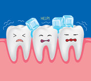 Teeth with ice Royalty Free Stock Photos